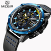 New MEGIR Brand Men S Chronograph Watches Luminous Hands Quartz Watch Army Military Fashion Sport Wristwatch