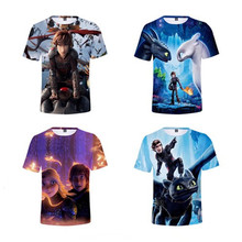Kids Fashion How to Train Your Dragon T-shirt Tops Boys Girls The Hidden World Toothless Light Fury Costume Funny T shirt Tee