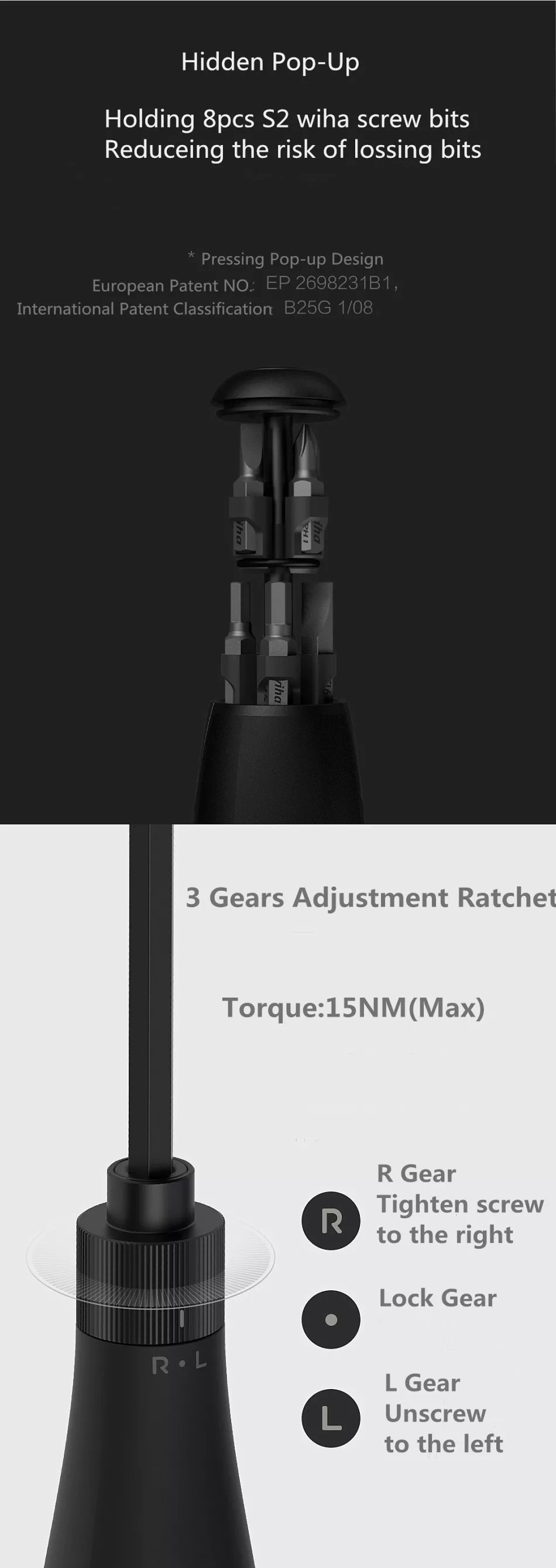 Xiaomi mijia Screwdriver Kit 8 in 1 Precision Magnetic Bits with Extension Rod Alluminum Box DIY Screw Driver Set Repair Tools (4)