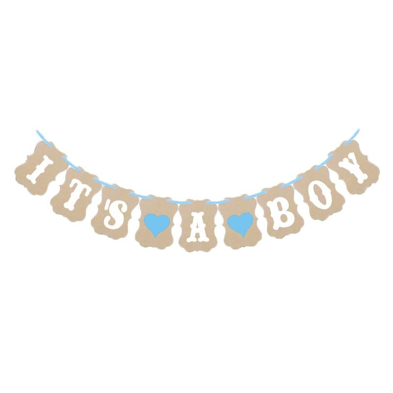 3M Papel Baby Shower Banner Guirnaldas Decoración Es un niño niña - Para fiestas y celebraciones