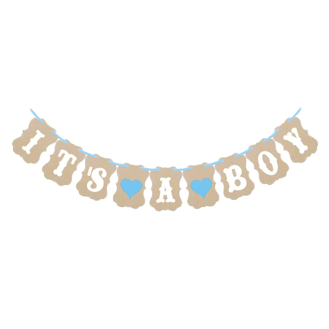 3m Paper Baby Shower Banner Garlands Decoration Its A Boy Girl