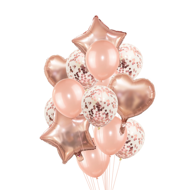 Rose Gold Wedding Birthday Party Balloons Happy Birthday Letter Foil Balloon Baby Shower Anniversary Event Party Decor Supplies 4