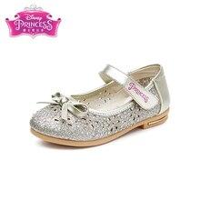 Disney Весенняя новинка продукты Симпатичные Детская обувь 2018 Весенняя Новинка для девочек кеды принцессы для девочек Танцы с небольшой кожаные туфли