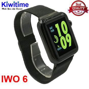 Bluetooth Smart Watch IWO 6 smartwatch Stainless Steel case for ios apple iPhone & samsung xiaomi Android phone Not apple watch