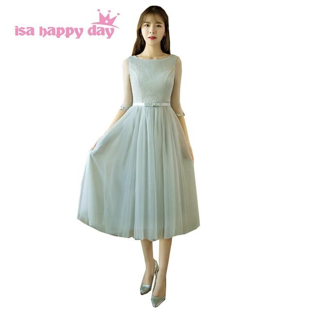 Online Shop robe de soiree formal short princess gray sleeved corset ...