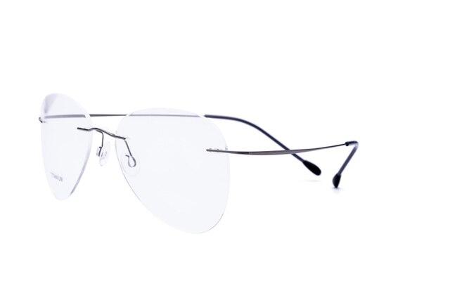 100% Real Óculos Sem Aro de Titânio Quadro Mulheres Clássico Óculos Ópticos  Miopia Oculos de 24ef930f0b