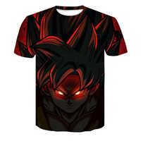 Camiseta de Dragón Ball Z para hombre verano moda 3D estampado Super Saiyajin Son Goku negro zenasu Vegeta dragón camisetas