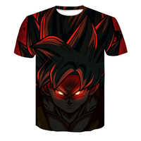 Dragon Ball Z T Shirts Mens Summer Fashion 3D Print Super Saiyajin Son Goku Black Zamasu Vegeta Dragon T-shirt Tops