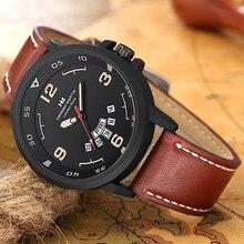 Men's Watch Fashion Classic Roulette Scale Calendar Leather Belt Business Quartz zegarek damski relojes hombre 2019 erkek saati