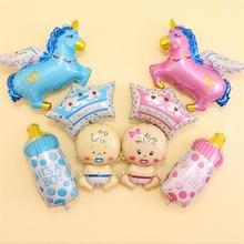 Воздушные шары из фольги с изображением животных, Детские воздушные шары на день рождения, вечерние украшения для детей, для мальчиков и девочек, вечерние украшения, Детские шапочки с героями мультфильмов