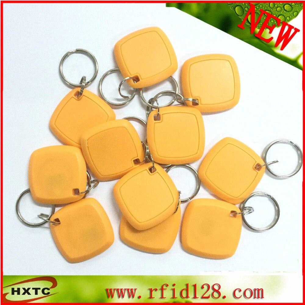 10PCS/Lot Rewritable Proximity 125Khz  Smart RFID ID keychain Card/Tag / Keyfob with EM4305 Chip For Copier/Duplicater /Cloner turck proximity switch bi2 g12sk an6x