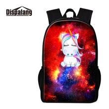 Piscar Dispalang Unicórnio Mulheres Mochila Espaço Universo Galaxy Impresso  Escola Bags para Meninos Meninas Sacos de ffce88fb67
