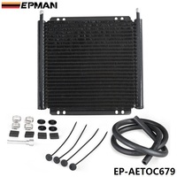 EPMAN Racing Car Aluminum Performance 24 Row Series 8000 Plate Fin Transmission Cooler Kit EP AETOC679