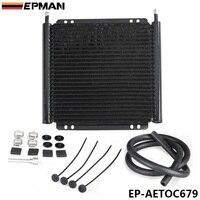 EPMAN Racing Car Aluminum Performance 24 Row Series 8000 Plate Fin Transmission Cooler Kit EP AETOC679
