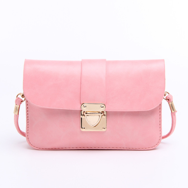 50442f78cd62 2016 Fashion Design Mini Satchel Women Messenger Bags Candy Colors Shoulder  Cross Body Bags Ladies Small Purses Leather Handbags