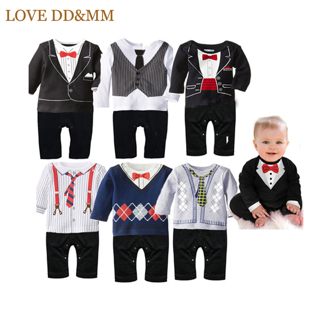 Baby Suit & Tie Jumpsuit