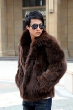 Brand New Men Korean Faux Fur Winter And Spring Jacket Leather Grass Fox Fur Coat Casual Large Size Black/White/Brown Coats J465