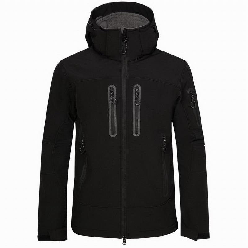 Men's Spring Autumn Softshell Jacket Men Outdoor Sports Hooded Coat Trekking Windbreaker Waterproof Hiking Jackets