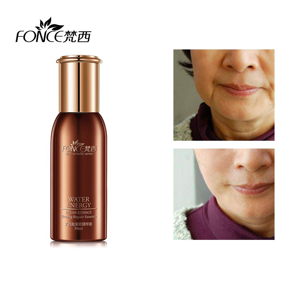 Fonce Six Peptides Face Anti-Wrinkle Serum Women Essence Facial Firming Liquid Anti Aging Ageless Skin Face Care Korea Brand New 1pcs six peptides serum for striae anti wrinkle cream anti aging collagen rejuvenating face lift skin care