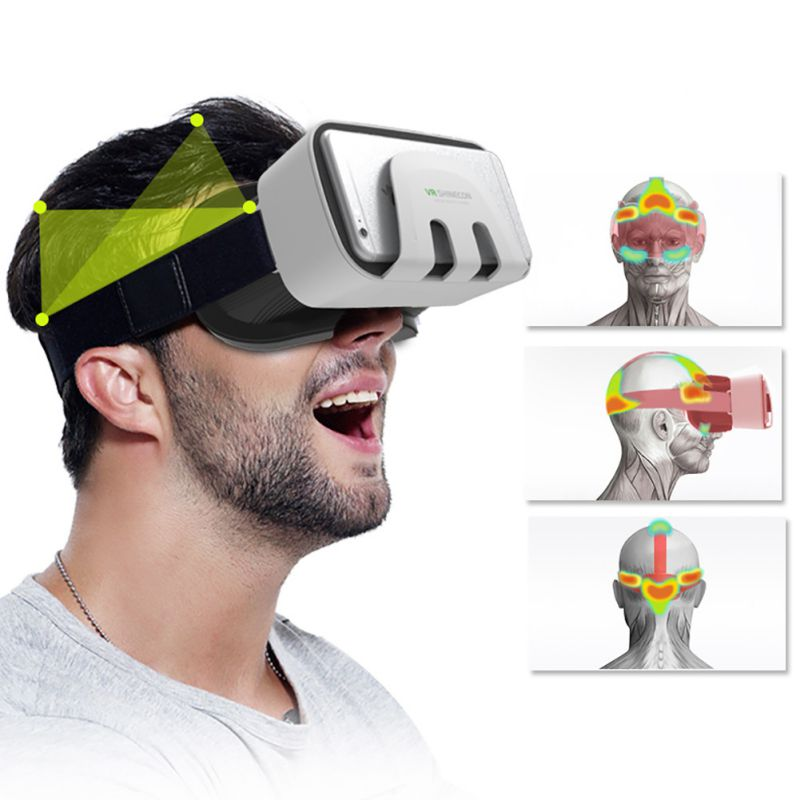 VR Shinecon III 3.0 Google Mini Virtual Reality 3D Glasses VR Helmet BOX Game Video Headset For Iphone For 4.7-6'' Phone l2