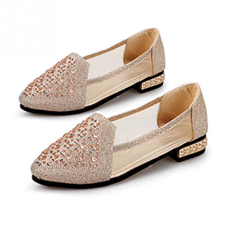 Buy rhinestone flat pumps and get free shipping on AliExpress.com 265a3a38a8f2