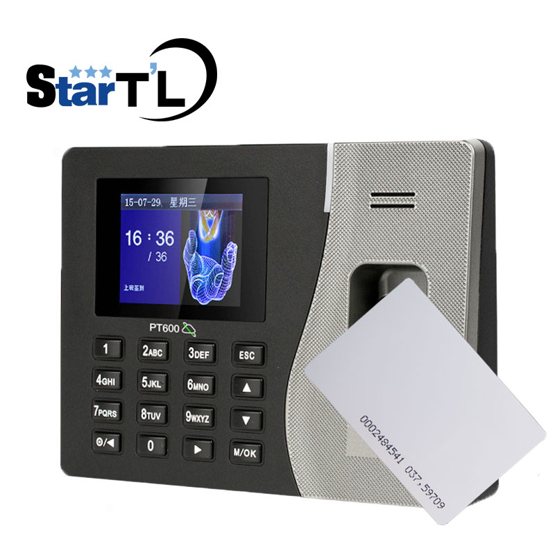 Free Shipping Biometric Fingerprint Time Attendance Clock Recorder Employee Recognition Device 125KHZ RFID Card Reader