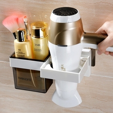 wall mount hair dryer rack holder bathroom shelf storage organizernizer