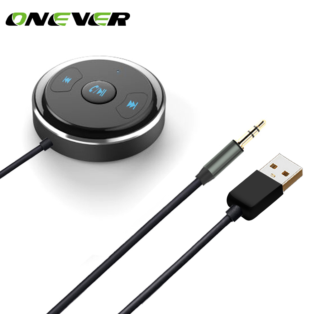 Onever 3.5mm Bluetooth Receiver Music Audio Receiver Adapter Hands Free Car Kit AUX For Speaker