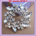 Venda quente de varejo cristal Floral broche para festa de casamento noivado do bolo de casamento pinos venda direta da fábrica preço barato