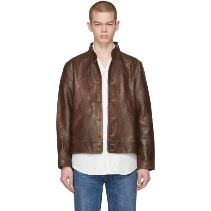 Free Shipping,Classic Cossack Genuine Leather Jacket,Einstein Brown Short  Style Cowhide Jacket.vintage Slim Leather Coat