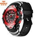 E-Watch Brand LOGO Watch HOSKA Fashion Rubber Plastic Band 50m Waterproof Digital-watch Children reloj hombre marca de lujo H804