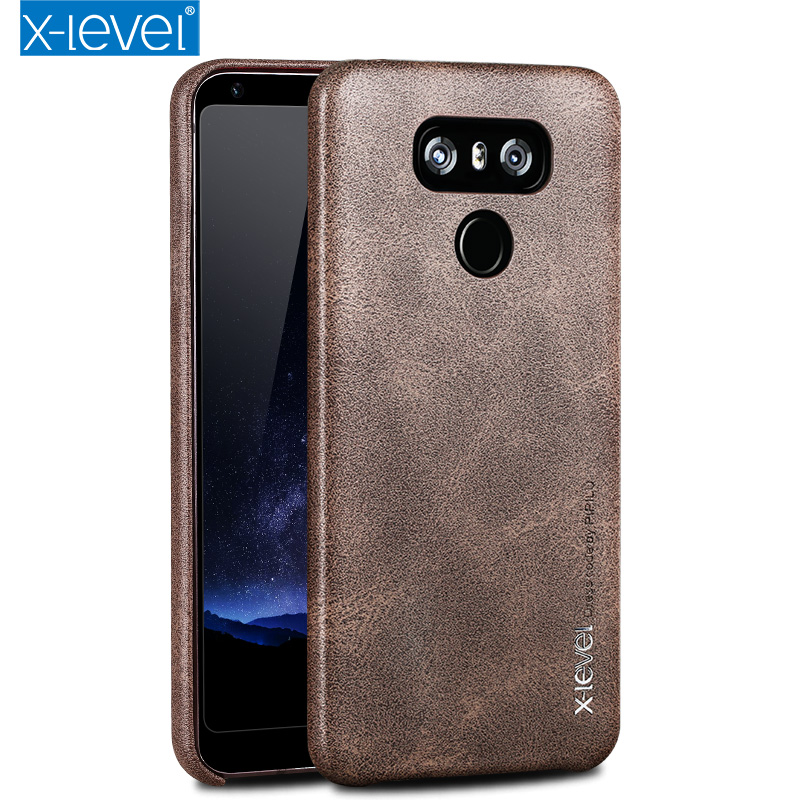 X level Luxury Vintage Leather Texture Phone case For LG