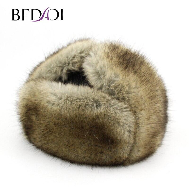BFDADI Neue Ankunft Frauen Natürliche Kunstpelz Hüte für männer - Bekleidungszubehör - Foto 1