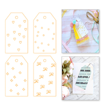 Eastshape 4pcs/lot Tags Dies Metal Cutting Stencil for DIY Scrapbooking Photo Paper Cards Making Decorative Crafts New 2019