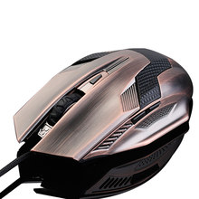 лучшая цена Professional Wired Gaming Optical Mouse 2000DPI Adjustable Computer USB Wired Gamer Luminous Mice Ergonomic for PC Laptop