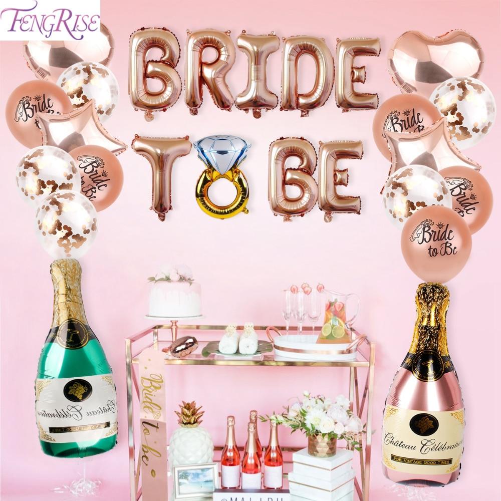 FENGRISE Bride Balloon Beer Bachelorette Party Decorations Bridal Shower Baptism Decor Engagement Decoration Hen Supplies