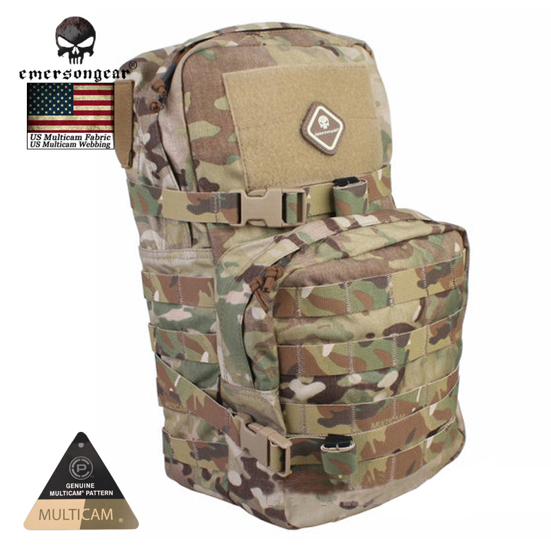 EMERSONgear Military Paintball Tactical Hydration Backpack Modular Assault Molle for 2.5L Water Bag Hydration Pack Bag EM5816 emersongear lbt2649b hydration carrier for 1961ar molle backpack military tactical bags hunting bag multicam tropic arid black