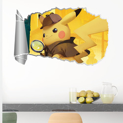 Cartoon 3D Pokemon Animals Wall Stickers For Bedroom Girls Room Kindergarten Home Decoration Diy Hole Wall Mural Pvc Decals