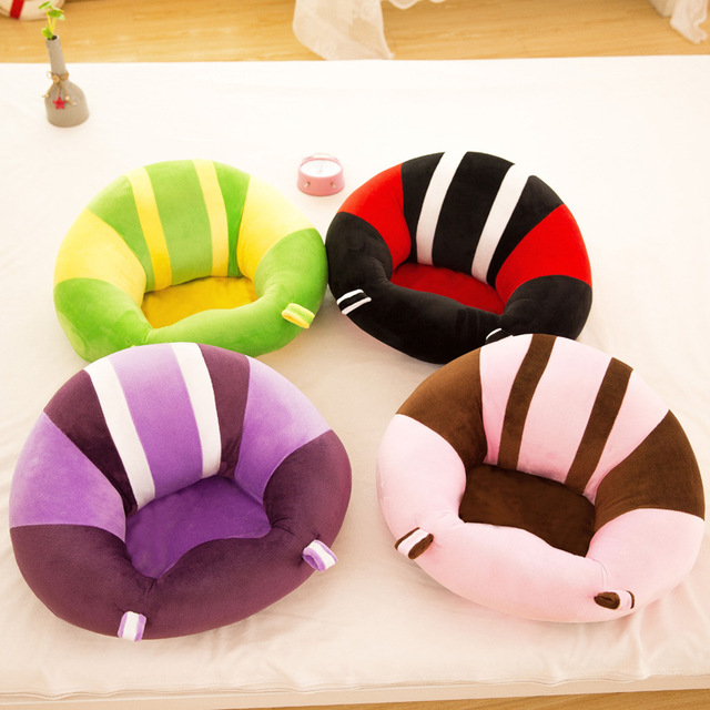 New Baby Support Seat Dining Chair Sofa Safety Cotton Plush Travel Car Seat Pillow Cushion Baby Nest Puff Plush Toys 5