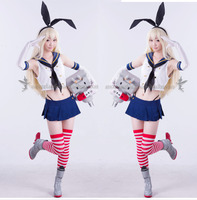 Anime Kantai Collection Shimakaze Uniforms Cosplay Costume Free Shipping Socks