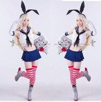 Anime Kantai Collection Shimakaze Uniforms Cosplay Costume Free Shipping Socks