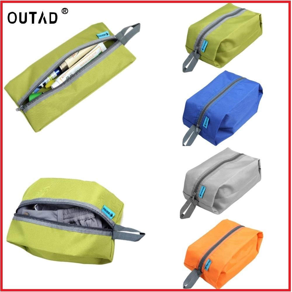OUTAD 4Colors hordozható 600D vízálló nylon horog utazási tasak cipőmosó cipzár piperecikkek smink sport tornaterem tároló táska szervező