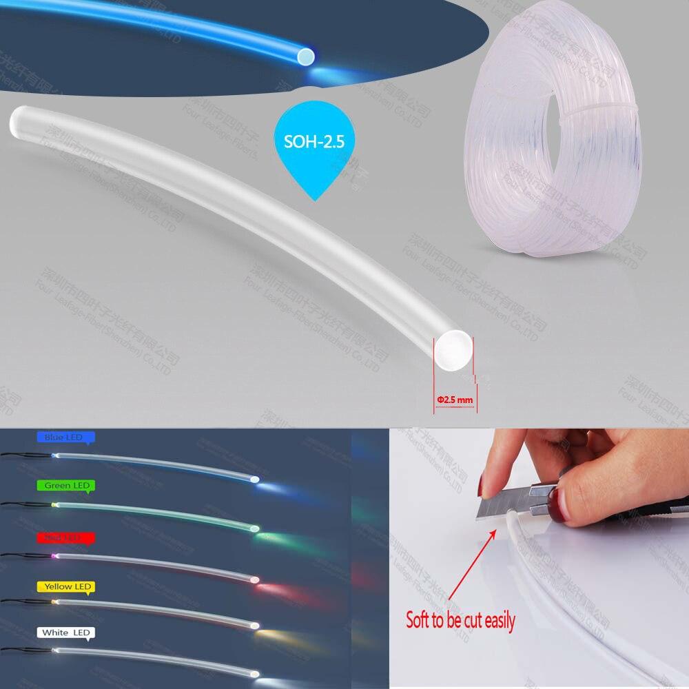 soft 2.5mm end glowing lighting cable fiber optic medical fiber