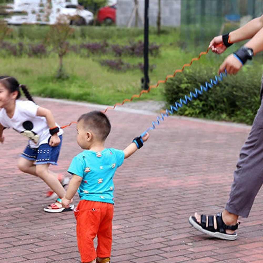 1.5 m Ajustável para Crianças Crianças de Segurança Anti-lost Link Pulseira Banda Pulseira de Pulso Cinta Arnês Cinto de Seguro Para O Bebê corda Trela