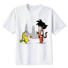 2018 Popular Dragon Ball Z Male T-Shirt Clothes Super Saiyan Funny Cartoon Print Tshirt Son Goku Custom Tshirt