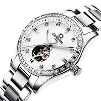 שוויץ קרנבל נשים שעוני יוקרה מותג גבירותיי אוטומטי מכאני שעון נשים עמיד למים relogio feminino 8685L-16
