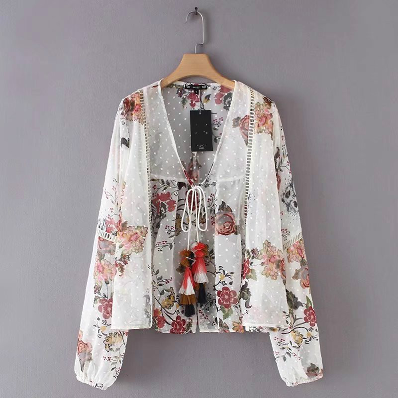 womens beach kimono blouse chiffon czech blouse shirt Boho clothing for women of large sizes See Through Top