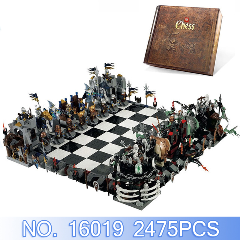 Lepin Movie Figures 16019 Games Castle Giant Chess 2475Pcs Building Blocks Bricks Set Kid Toys Gift Model Kits Compatible 852293 hot mobile game movie angried king pig castle building block crazy birds minifigures bricks compatible legoes 75826 toys for kid