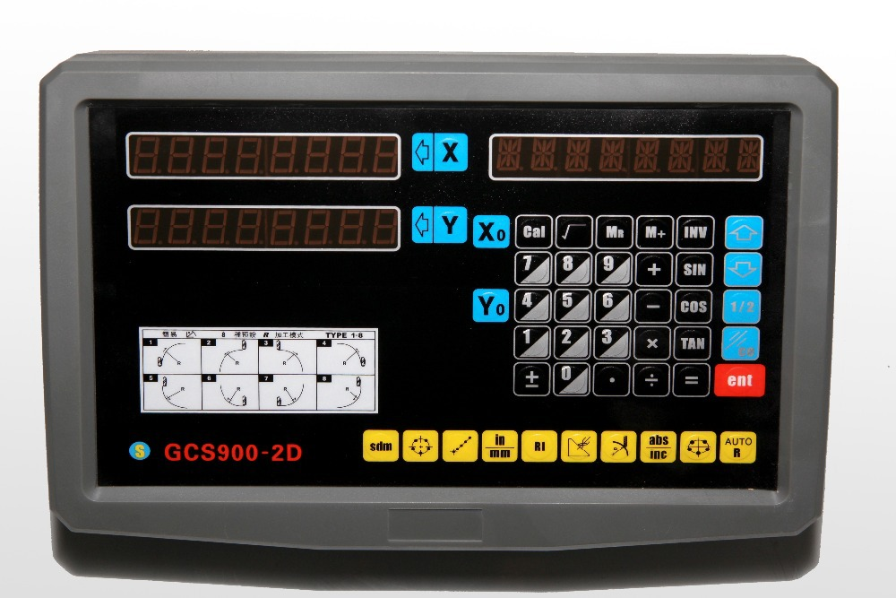 Kompletny zestaw High Precision tokarka mium 1um 2-osiowy system DRO - Przyrządy pomiarowe - Zdjęcie 2
