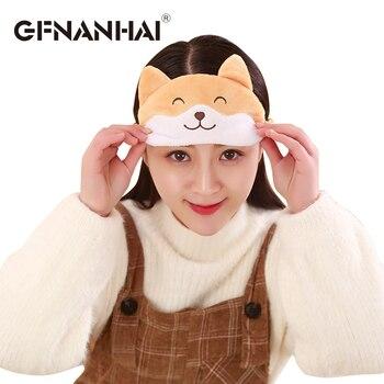 1pc 18*8cm cute corgi dog eye mask cover plush toy Cartoon animal dog Plush Sleeping Mask dolls for children girls birthday gift